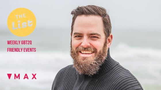 Bearded European guy into guy smiling loving Ottawa's social weekly calendar MAX Gay bi trans two spirit queer