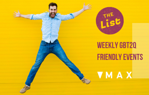 Happy man smiling jumping excited The List Ottawa's social calendar for GBT2Q guy friendly events