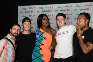 Max team with drag queen Shea Coulee