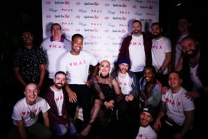 Max team at Spill the Tea with Ongina drag queen