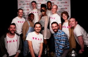 Team Max with Shea Coulee at Spill The Tea event