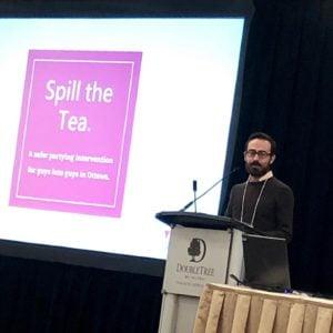 Executive Director, Roberto at Spill the Tea presentation