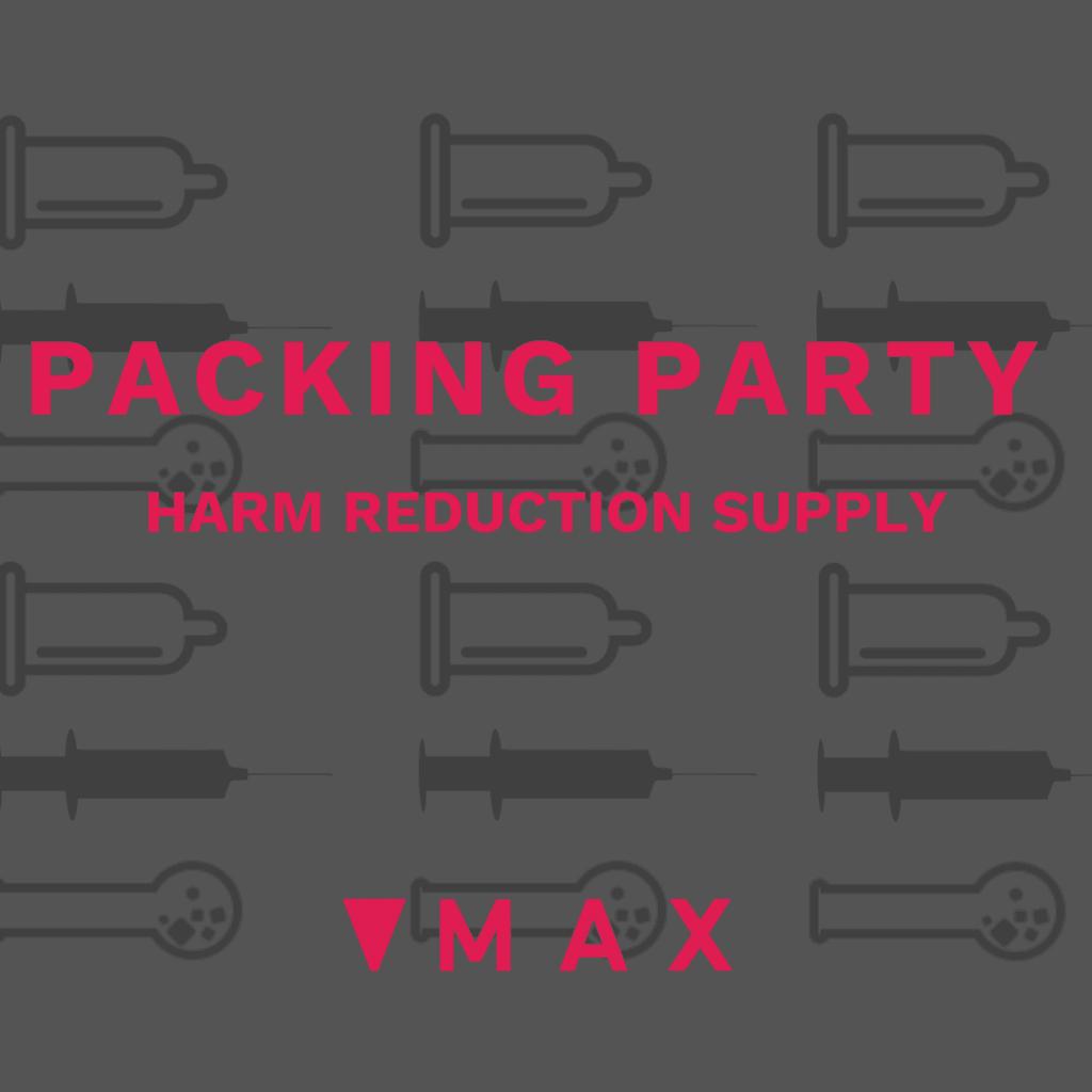 Harm reduction supplies at MAX Ottawa
