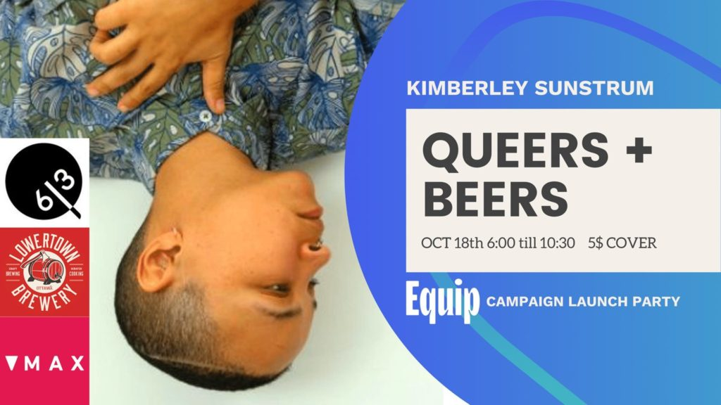 Queers and Beers poster for October 18