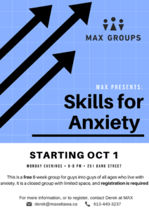 max group poster for skills for anxiety