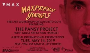 MAXpress yourself poster for the Pansy Project