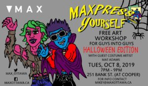 MAXpress yourself poster for Halloween edition