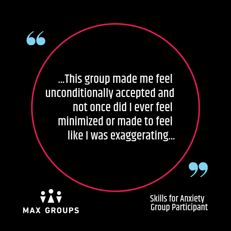 anxiety group partcipiant quote