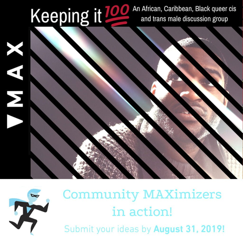 Keeping 100 poster for Community MAXimizer Program