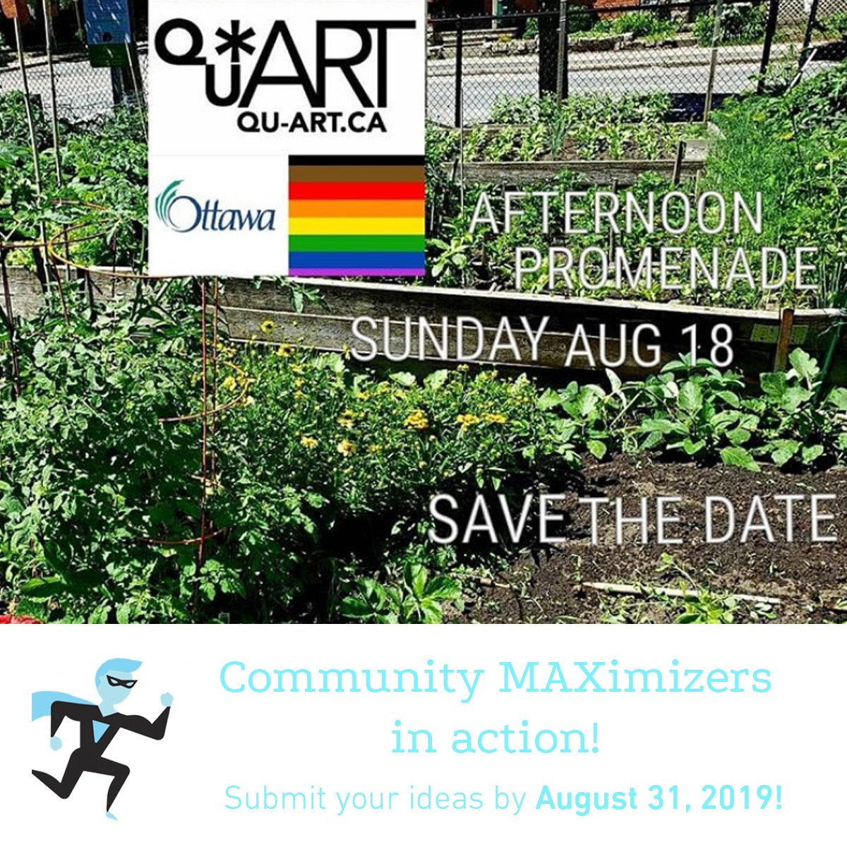 Qu'art Queer Communitty poster for Community MAXimizer Program