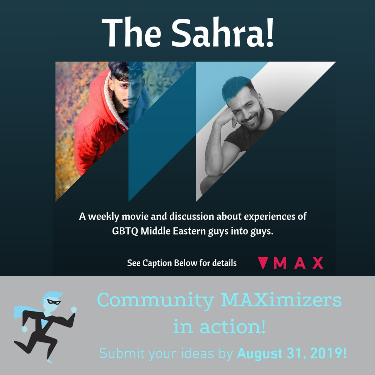 The Sahra poster for Community MAXimizer Program