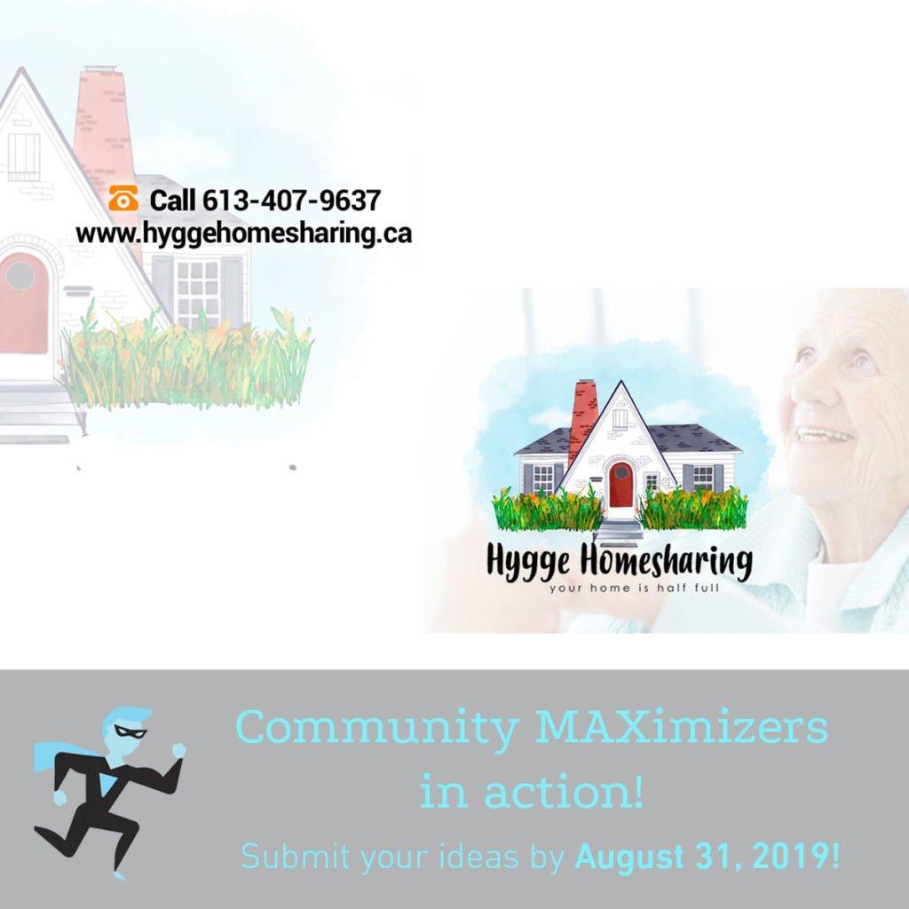 Hygge Homesharingposter for Community MAXimizer Program