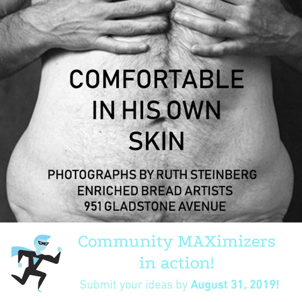 Comrfotable in His Own Skinposter for Community MAXimizer Program