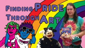 "Mikey Artelle's Blog Post Banner ""Finding Pride Through Art"""