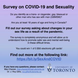 Survey on COVID-19 and Sexuality